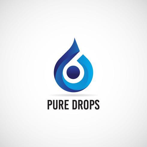 Blue Drops-logo vector