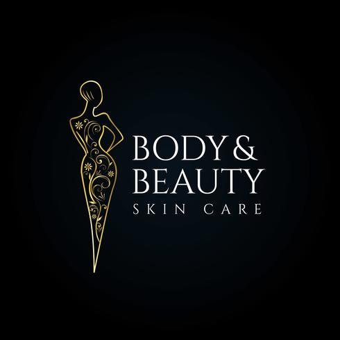 Schoonheidssalon huidverzorging logo vector