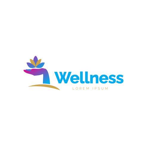 Hand Lotus-logo vector