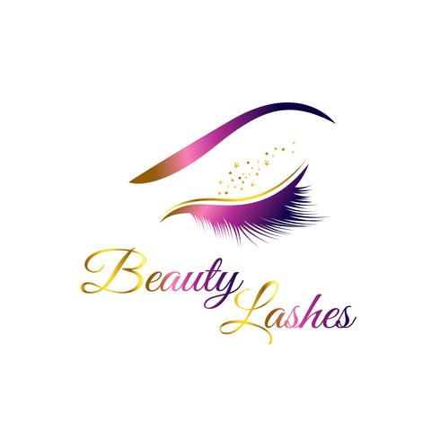 Cosmetische wimpers Logo vector