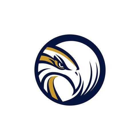 Cirkel Eagle Hawk-logo vector
