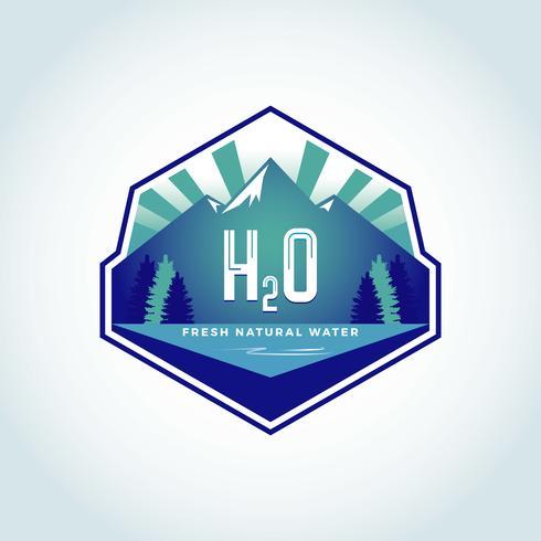 H2O Natural Water-logo vector
