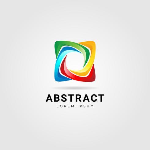 Kleurrijke Star Looping Logo teken vector