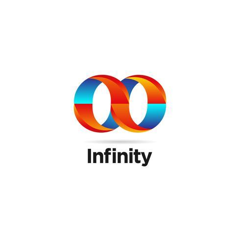 Blauw en oranje oneindig logo vector