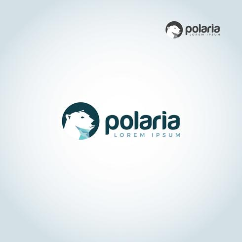Polar Bear Head-logo vector