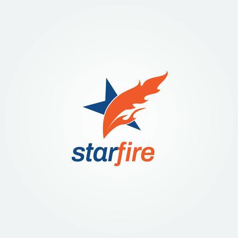 Creatief Fire Star-logo vector