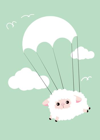 schapen in de lucht vector