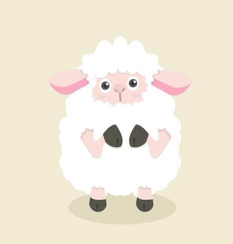 Grappige cartoon kleine schapen vector