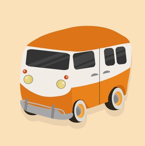 oranje auto vector