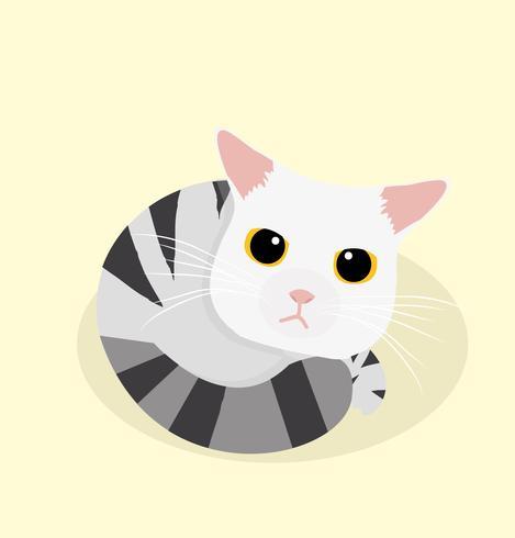 schattige kattenslaap vector