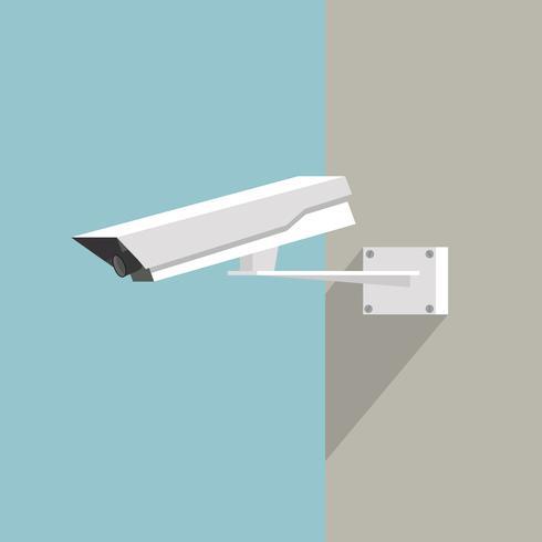 Beveiligingscamera pictogram platte ontwerpstijl vector