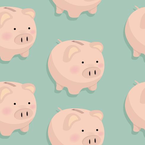 Spaarvarken geld patroon vector