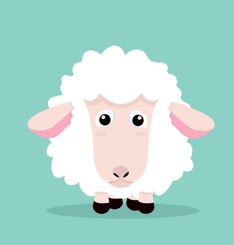 Leuke cartoon kleine schapen vector