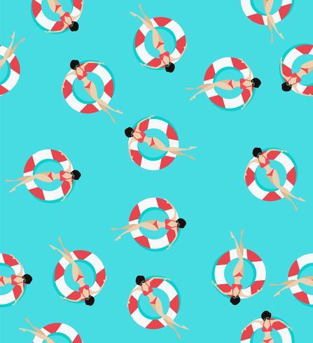 Zwem ringenpatroon vector