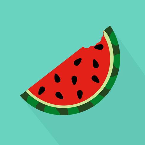 Watermeloenbeet opgestegen vector