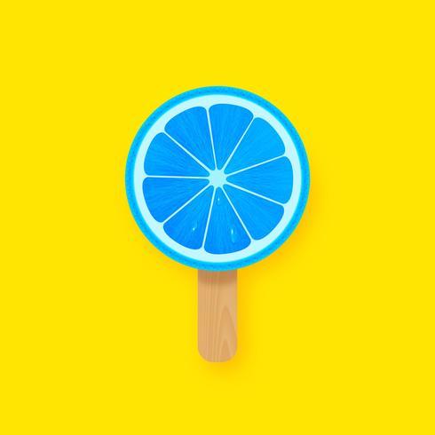Creatieve Pop Citrus Slice Popsicle vector