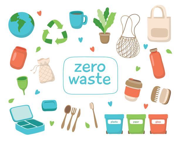 Afvalvrije levensstijl. vector