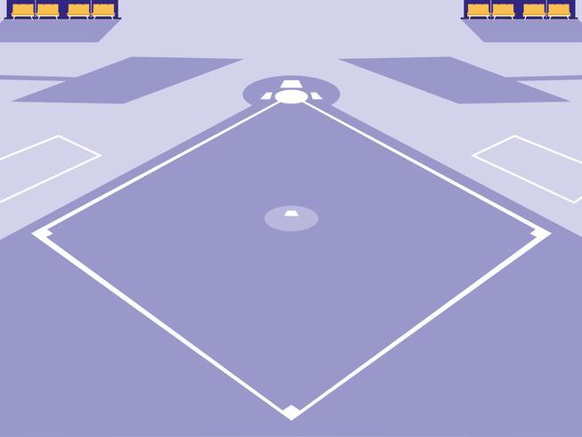 honkbal sport stadion scène vector