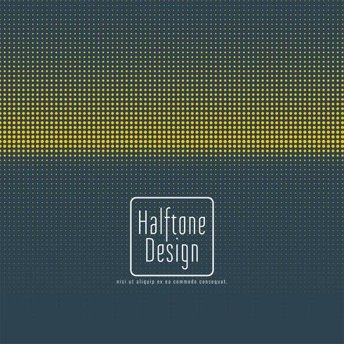 Blauw en geel halftoonontwerp vector