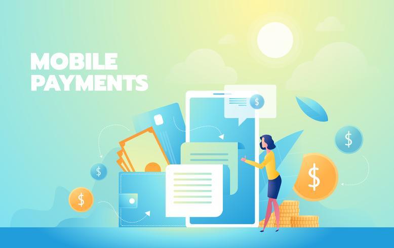 Site voor mobiele betalingen vector