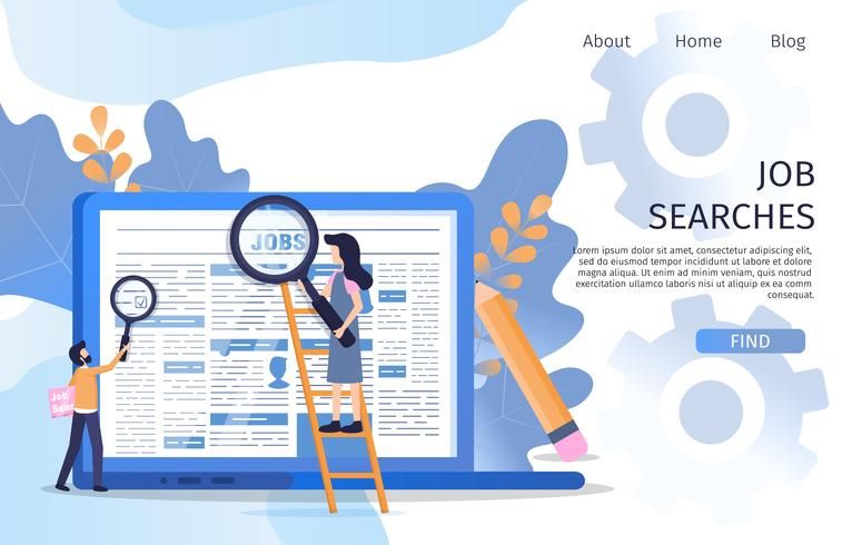 Zakelijk manager Job Search Recruit Marketplace vector