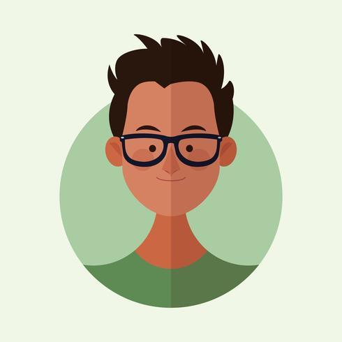 man gezicht cartoon vector
