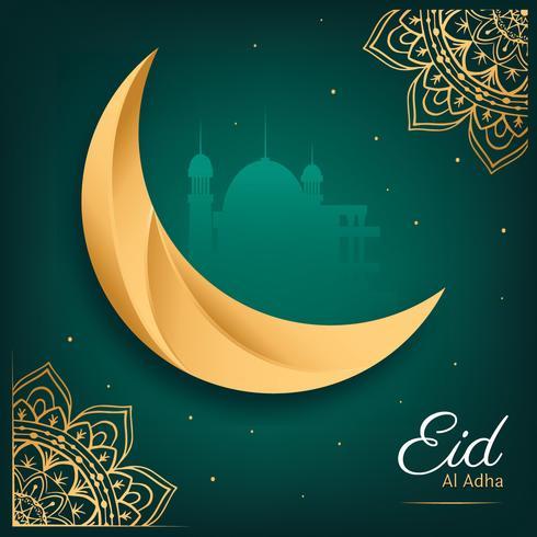 Eid Al Adha-groetkaart Vectorontwerp vector