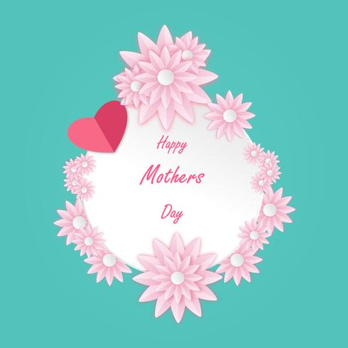 Happy Mother's Day wenskaart vector