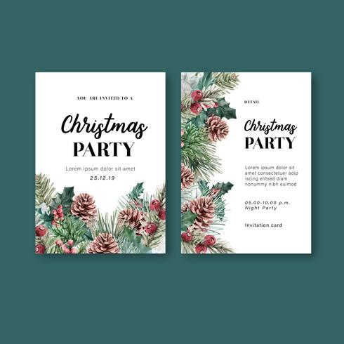 Winter bloemen bloeiende elegante bruiloft uitnodigingskaart voor mooie decoratie vintage vector
