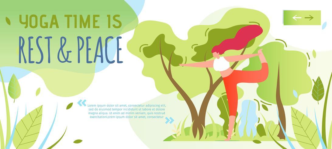 Uitnodiging voor het doen van yoga en maak stuk banner vector