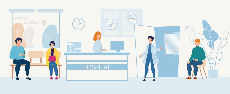 reclamefolder ziekenhuisopname afdeling vector