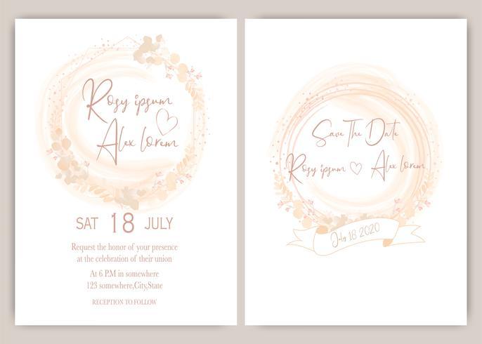 Elegante bruiloft uitnodiging vector