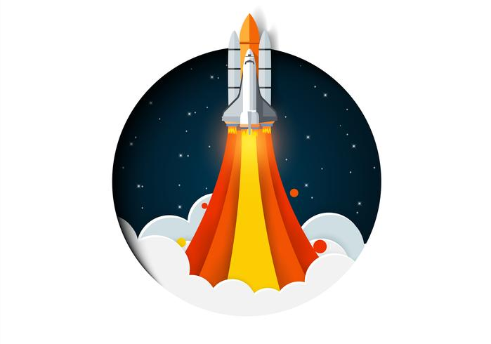 Space Rocket Launching vector