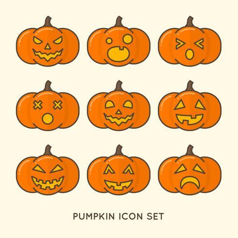 Halloween Pompoen Set vector
