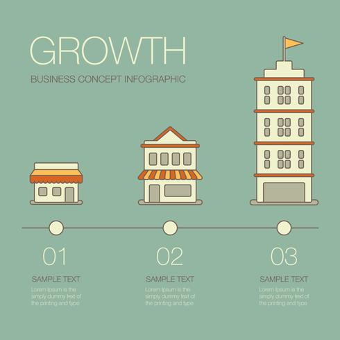Zakelijke groei Infographic vector