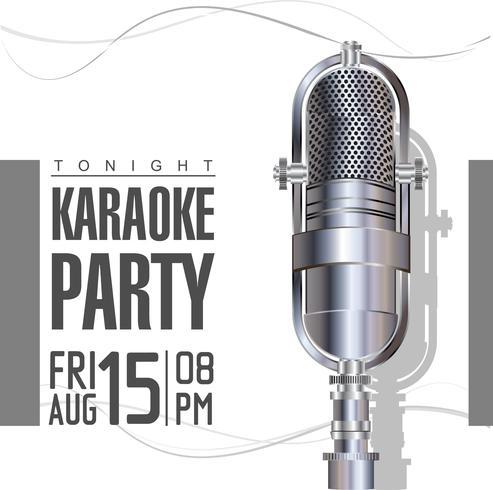 karaoke retro poster vector