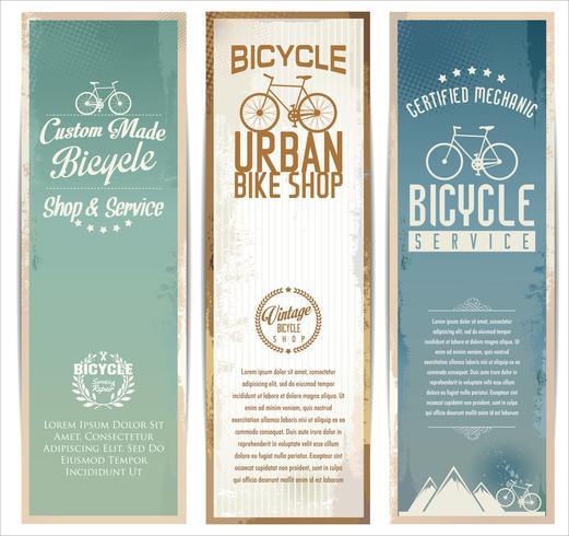 Vintage fietsen poster vector