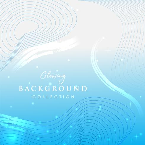 Gloeiende blauwe abstracte achtergrond. vector