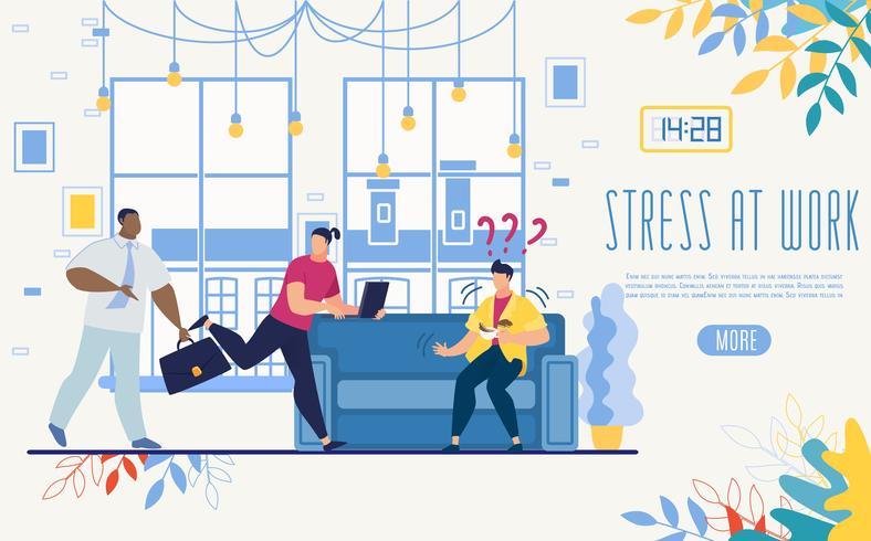 Controle van stress op het werk Startup Website vector