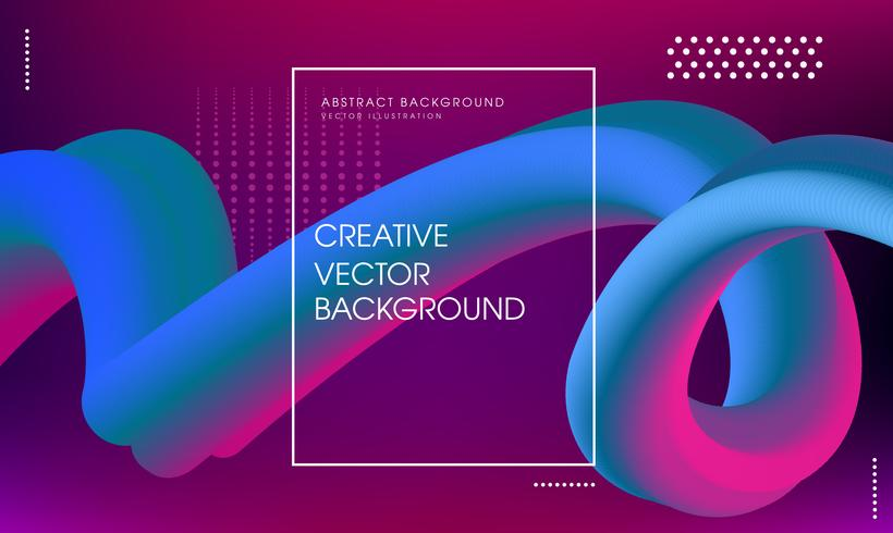 Abstracte achtergrond met veelkleurige stroom vloeibare vormen vector