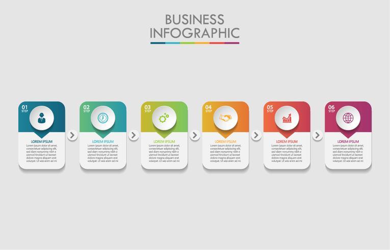 Visualisatie van bedrijfsgegevens vector