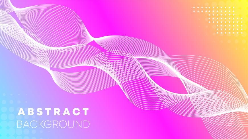 Roze golf abstracte achtergrond vector
