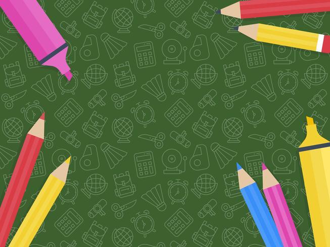 Terug naar school poster sjabloon vector