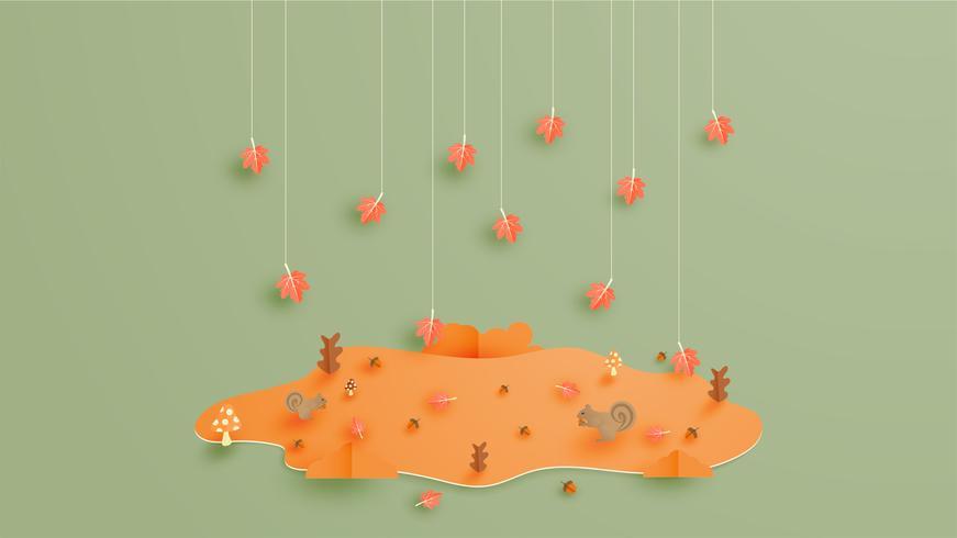 Herfst seizoen achtergrond vector