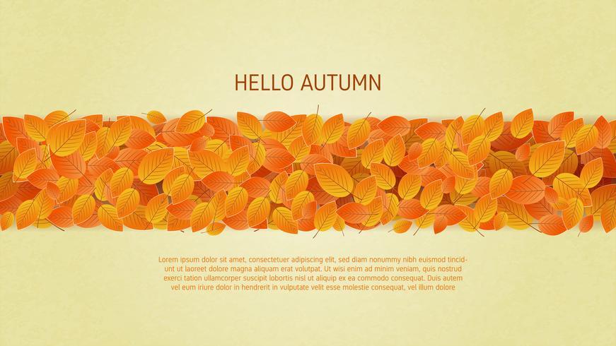 Herfstbladeren achtergrond in papier gesneden stijl vector