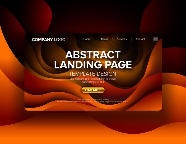 Abstract landingspaginaontwerp vector