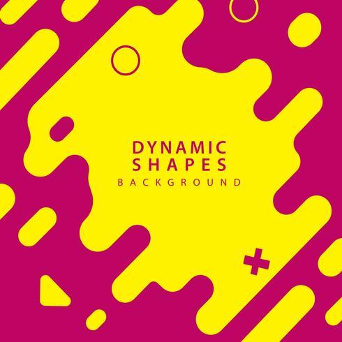 abstracte vlakke dynamische vormen vector