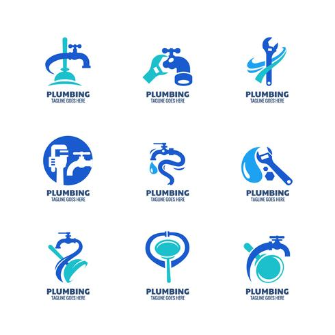 Modern sanitair logo sjabloon vector