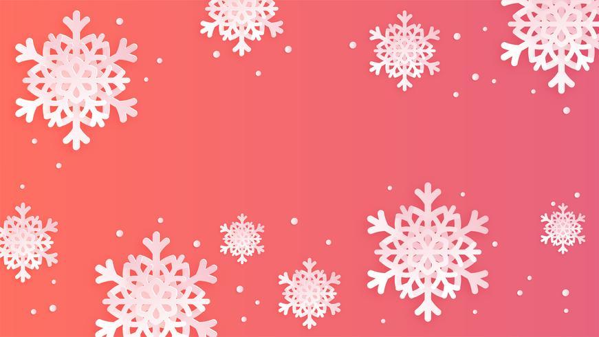 Sneeuwvlokken Achtergrond vector