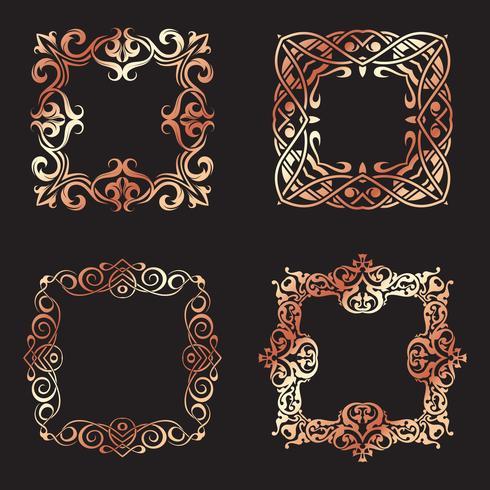 Collectie decoratieve vierkante kaders vector
